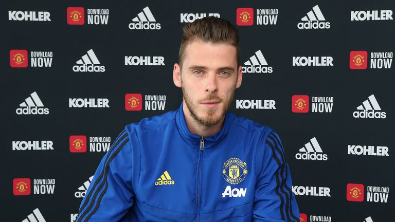 De Gea's new contract runs until 2023, with the option of a further year