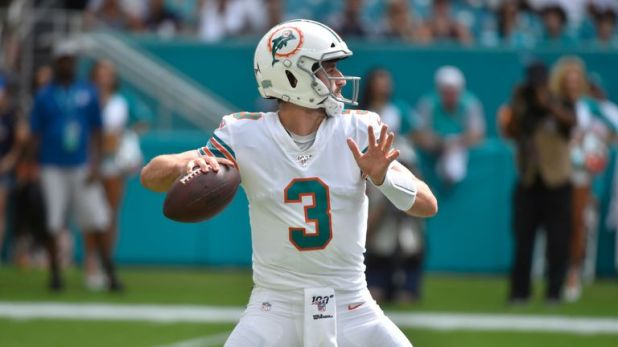 Josh Rosen is taking over as quarterback for the Miami Dolphins