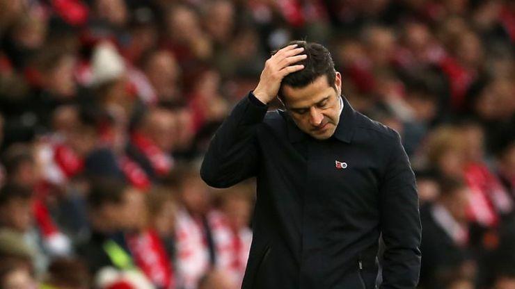 Marco Silva entra al derbi bajo una gran presión con el Everton 17º en la Premier League y solo dos puntos por encima de la zona de caída