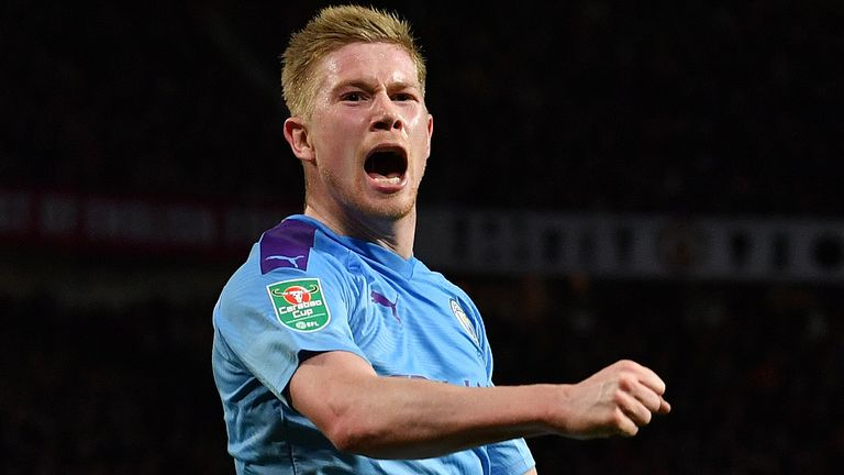 On Sunday, Kevin De Bruyne is watching more trophies in the Carabao Cup final