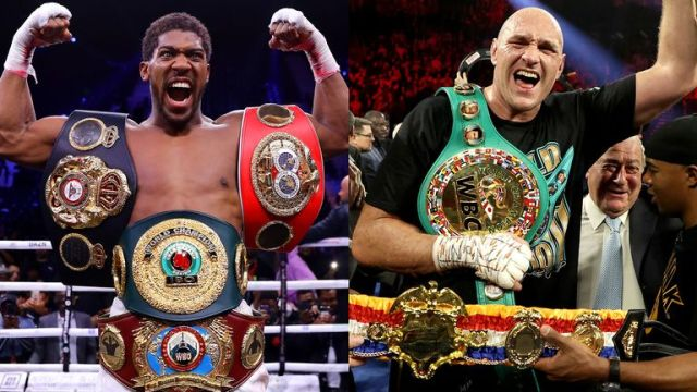 British duo Joshua and Fury hold all the major world heavyweight titles