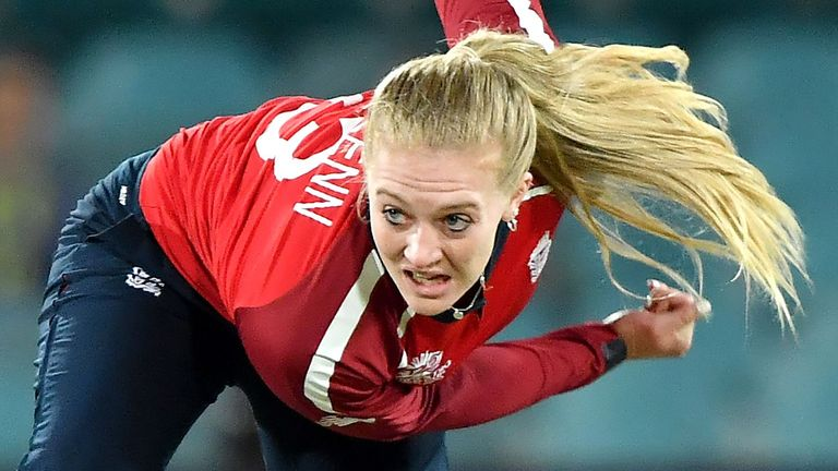 England's Sarah Glenn was in impressive form during the T20 series against West Indies