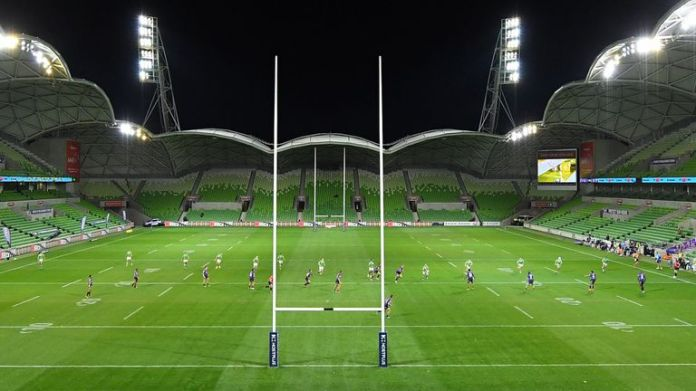 AAMI Park will not host the second round of Melbourne Super Rugby against the Reds after the Queensland government crackdown on Victorian sports teams