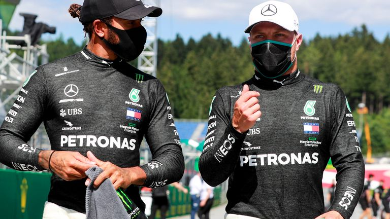 Austrian Gp Qualifying Valtteri Bottas Pips Lewis