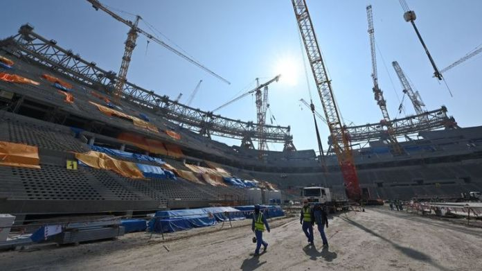 Lusail stadium still to be built in Doha will host the 2022 World Cup final