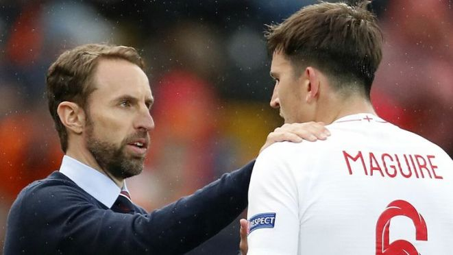 Gareth Southgate says he has been in regular contact with Maguire