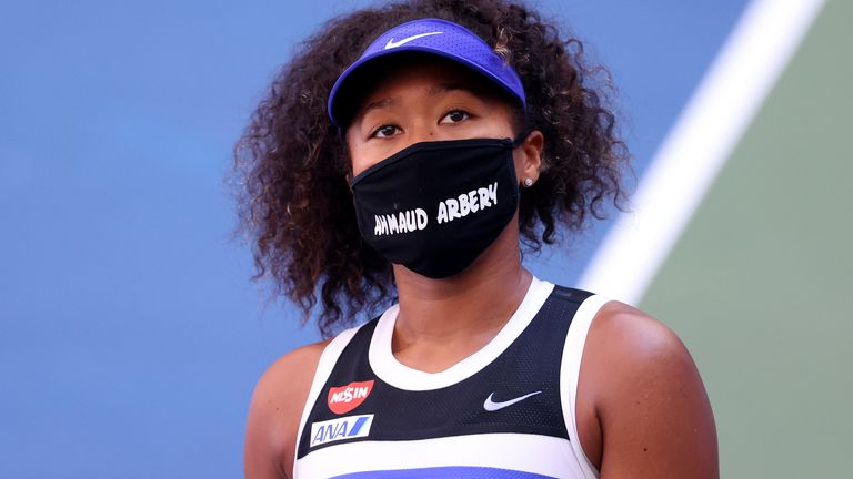 Osaka wore a different face mask for every round of her US Open triumph, each with the name of a black person whose death has been referenced in protests about racial injustice