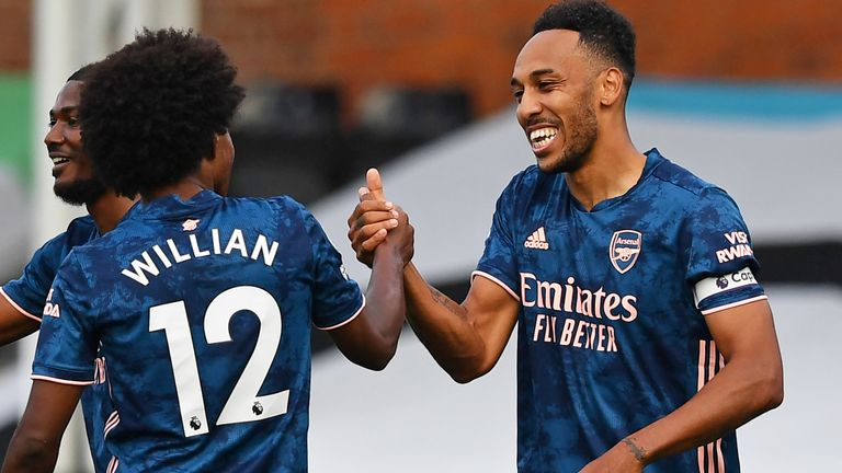 Mikel Arteta said after the game he was hoping for positive news on Aubameyang's contract in the coming days