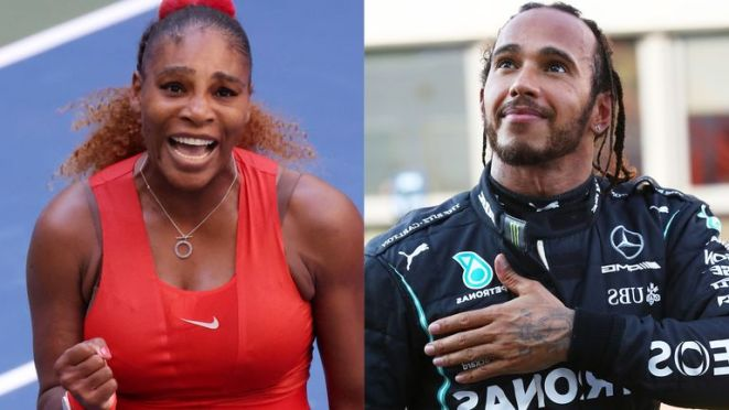 Serena Williams is rooting for F1 champion Lewis Hamilton as both eye records