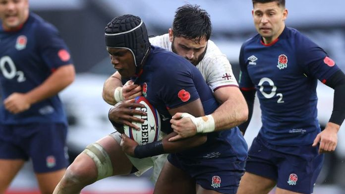 Maro Itoje once again stood out in England colours, in a typical all-action performance