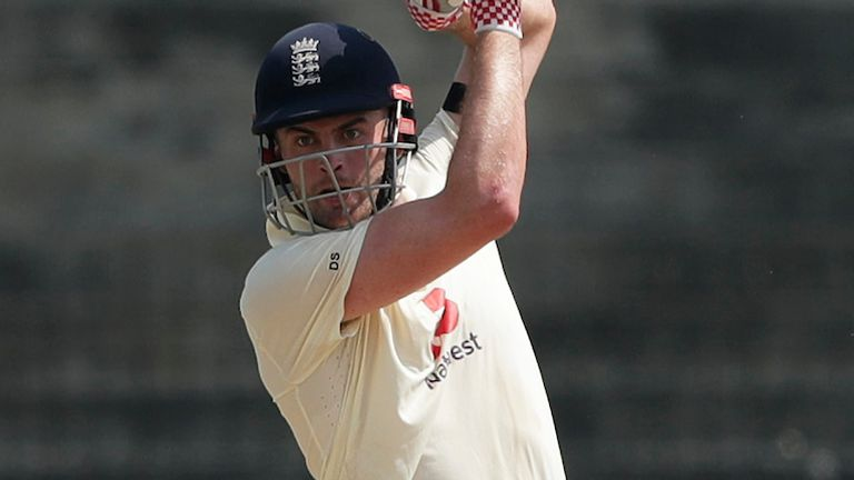 Dom Sibley made 87 for England on day one of the first Test in Chennai (Pic credit: BCCI)