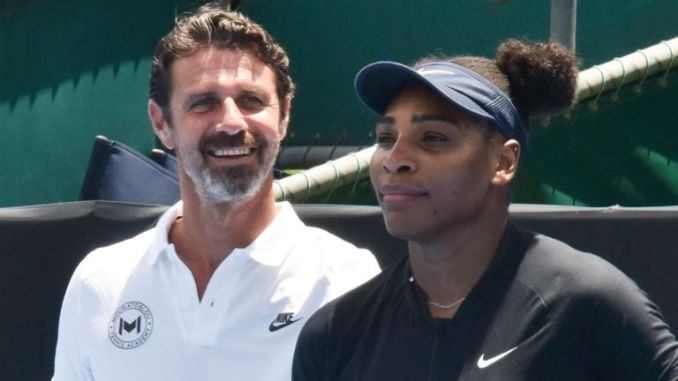 Coach Patrick Mouratoglou (left) has backed Serena Williams to win a record-equalling 24th Grand Slam (Photo by Shirley Kwok / Pacific Press)