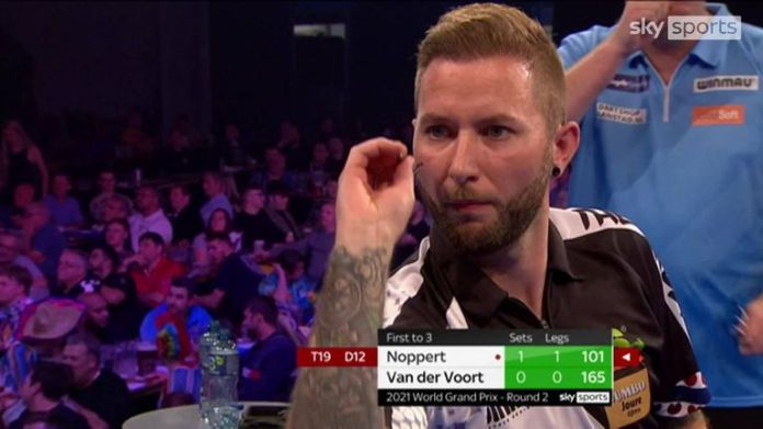 Noppert hit a 130 and 101 checkout in consecutive legs against Van der Voort