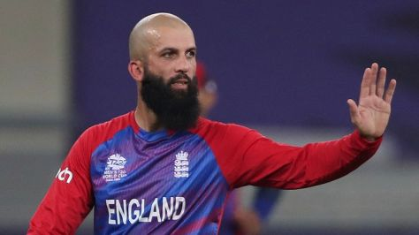 Moeen Ali helped restrict West Indies to 31-4 in the powerplay