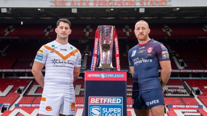 Catalans and St Helens face off at Old Trafford in this year's Super League Grand Final