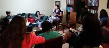 Sharie teaching Bible study
