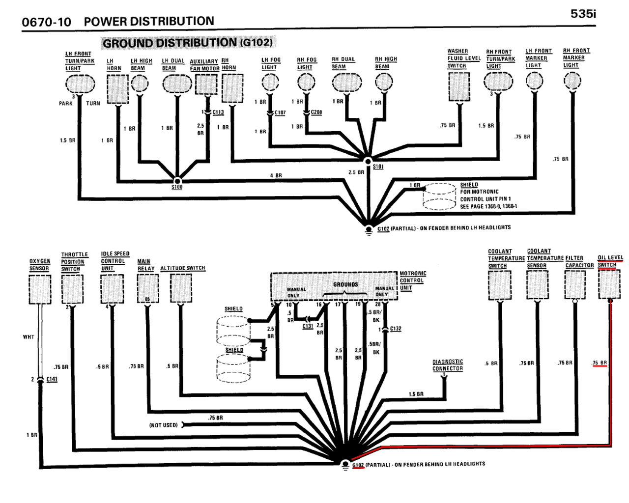 M30 b34/b35 oil level sensor wire diagram help? • MyE28.com