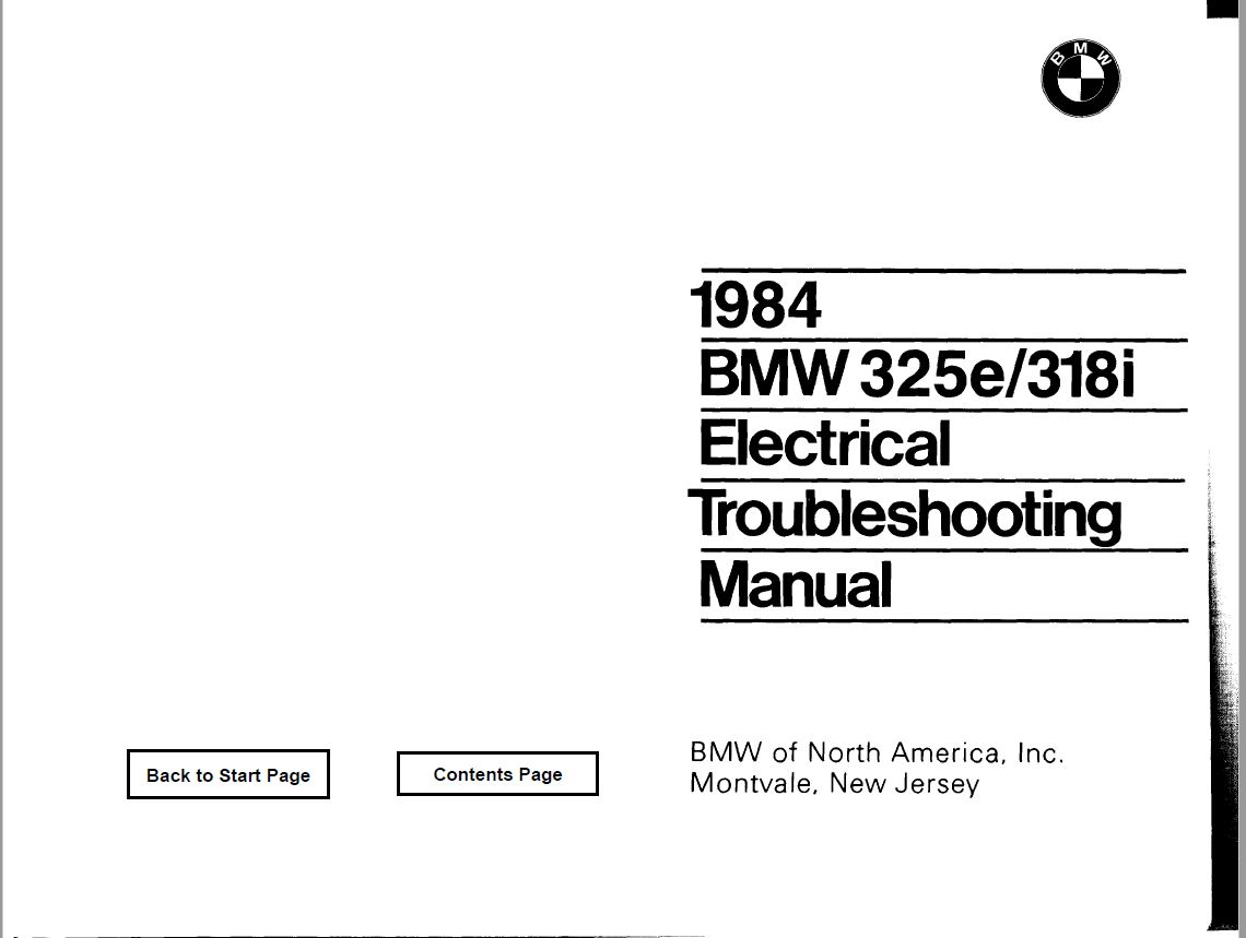 hight resolution of bmw e30 wiring diagrams 84 pdf