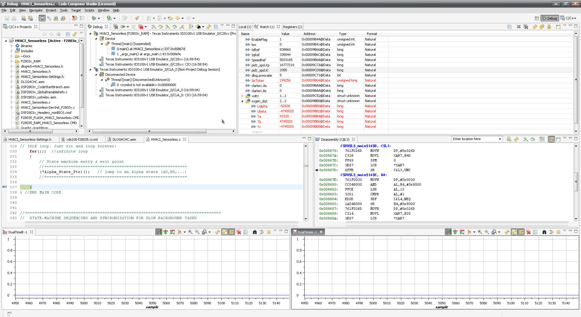 [Resolved] Help in programming High Voltage Digital Motor