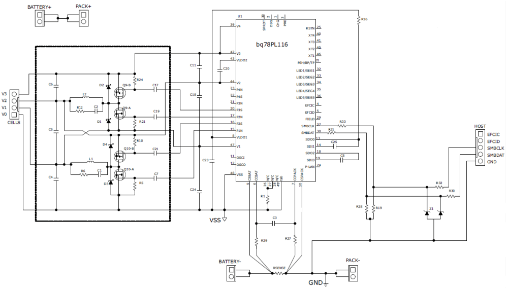 medium resolution of schematic for battery balancing using bq78pl116