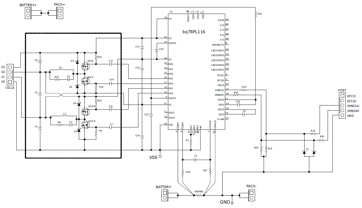 hight resolution of schematic for battery balancing using bq78pl116