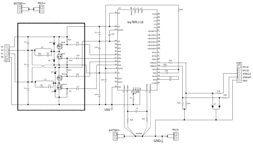 small resolution of schematic for battery balancing using bq78pl116