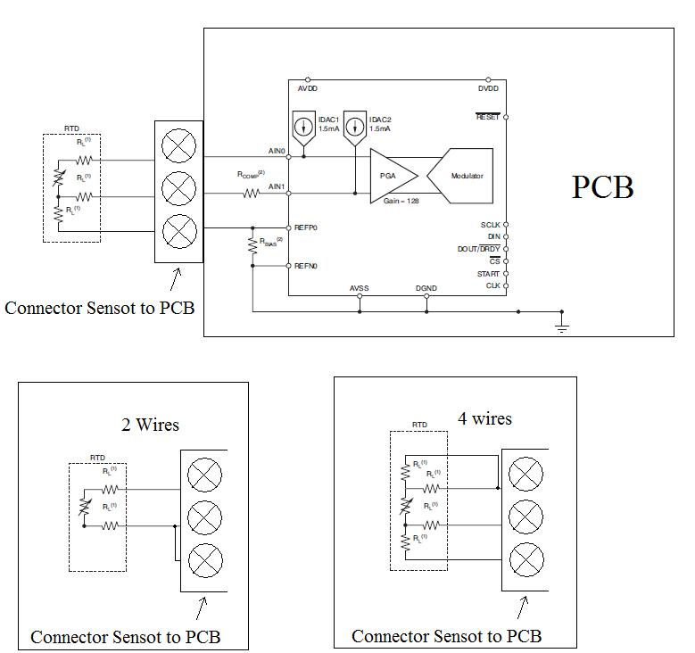 ADS1148 Whit 2 3 And 4 Wires Precision Data Converters Forum