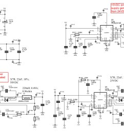 i have made a board using different lm25575 to manage the power supplies from a plc backplane providing 24vdc as shown herebelow  [ 6081 x 3296 Pixel ]