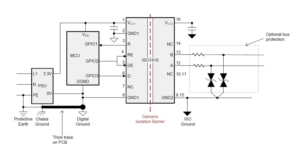 medium resolution of top 7 design questions about isolated rs 485 transceivers analog circuit diagram of digital isolation and termination