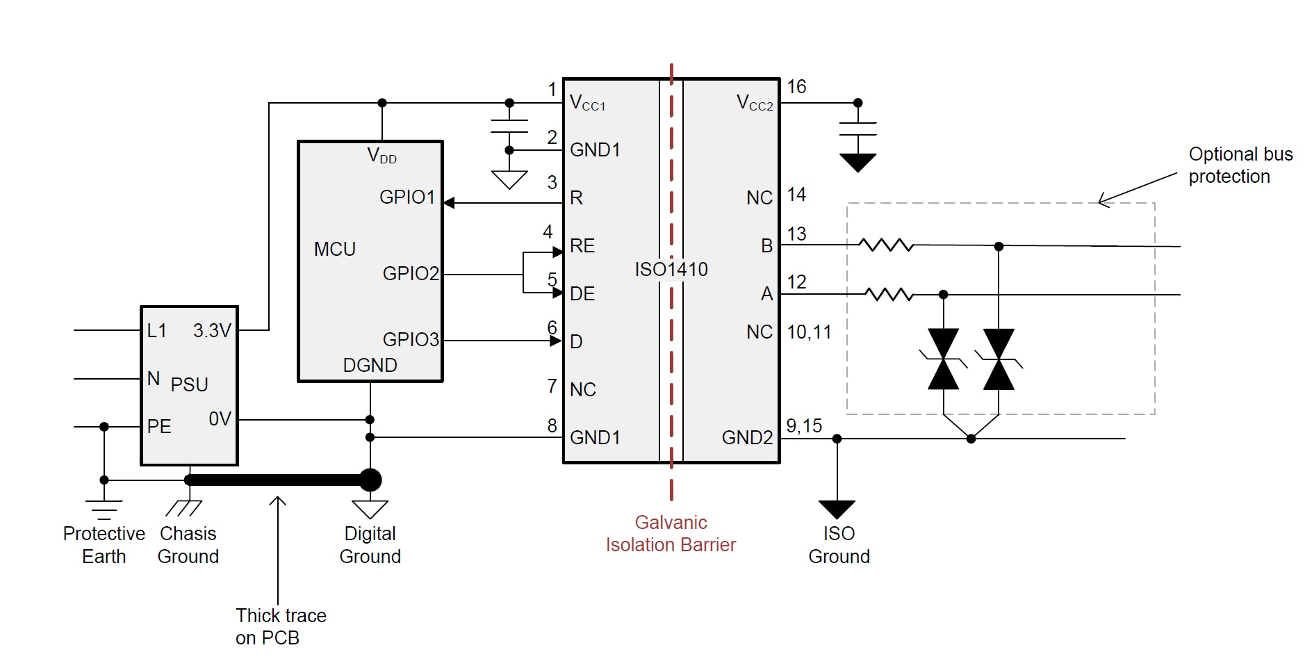 hight resolution of top 7 design questions about isolated rs 485 transceivers analog circuit diagram of digital isolation and termination