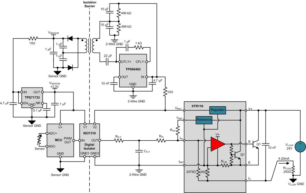 medium resolution of figure 4 input sensor isolated 2 wire transmitter