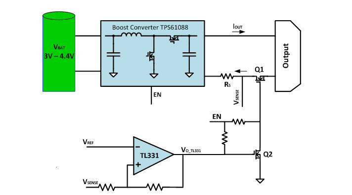 how to solve circuit diagrams apache quad wiring diagram make your power bank more reliable with output short figure 1 block of the protection reference design for tps61088 boost converter