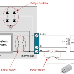 Rectifier Wiring Diagram Human Long Bone How To Power Your Thermostat Using Solid State Relays Industrial