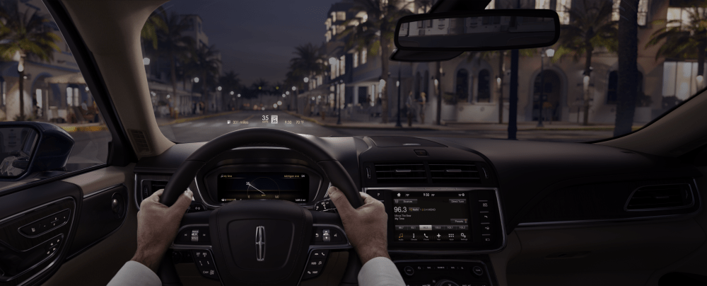 medium resolution of figure 1 head up display feature in the lincoln continental