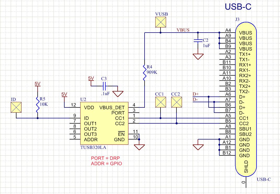 hight resolution of tusb320 usb c schematic