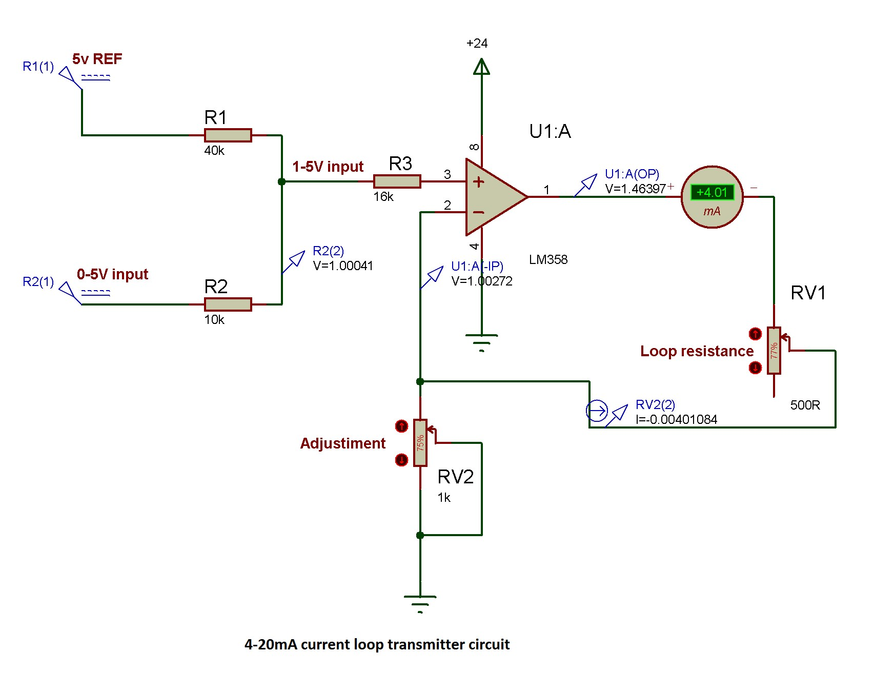 hight resolution of how can i maintain a standard 4 20ma output for a large current loop which will be stable even if loop resistance differs from standard 250