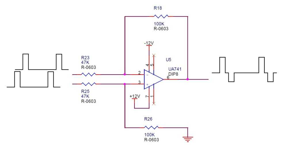 medium resolution of q3 when connect to load 50k resistor to ground the output pin 12v and 1v pulse wave is correct