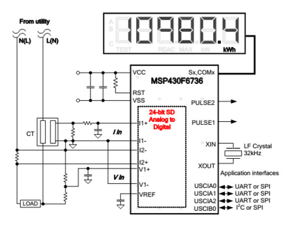 digital energy meter wiring diagram for installing a car stereo using shunt on live side to measure current - msp low-power microcontroller forum low ...