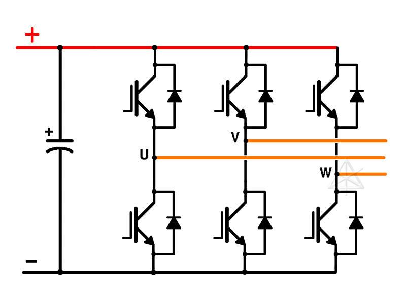 block diagram of 3 phase inverter