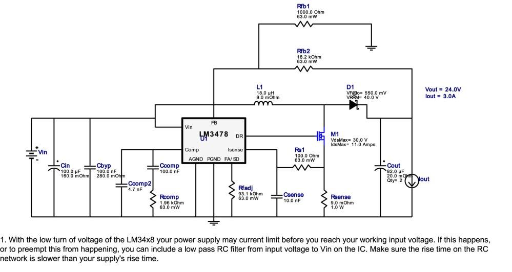 medium resolution of lm3478 12v to 24v boost application