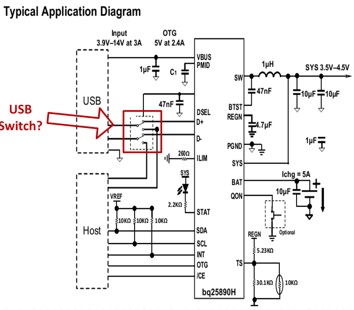 [Resolved] Does TI recommend a USB switch for high input