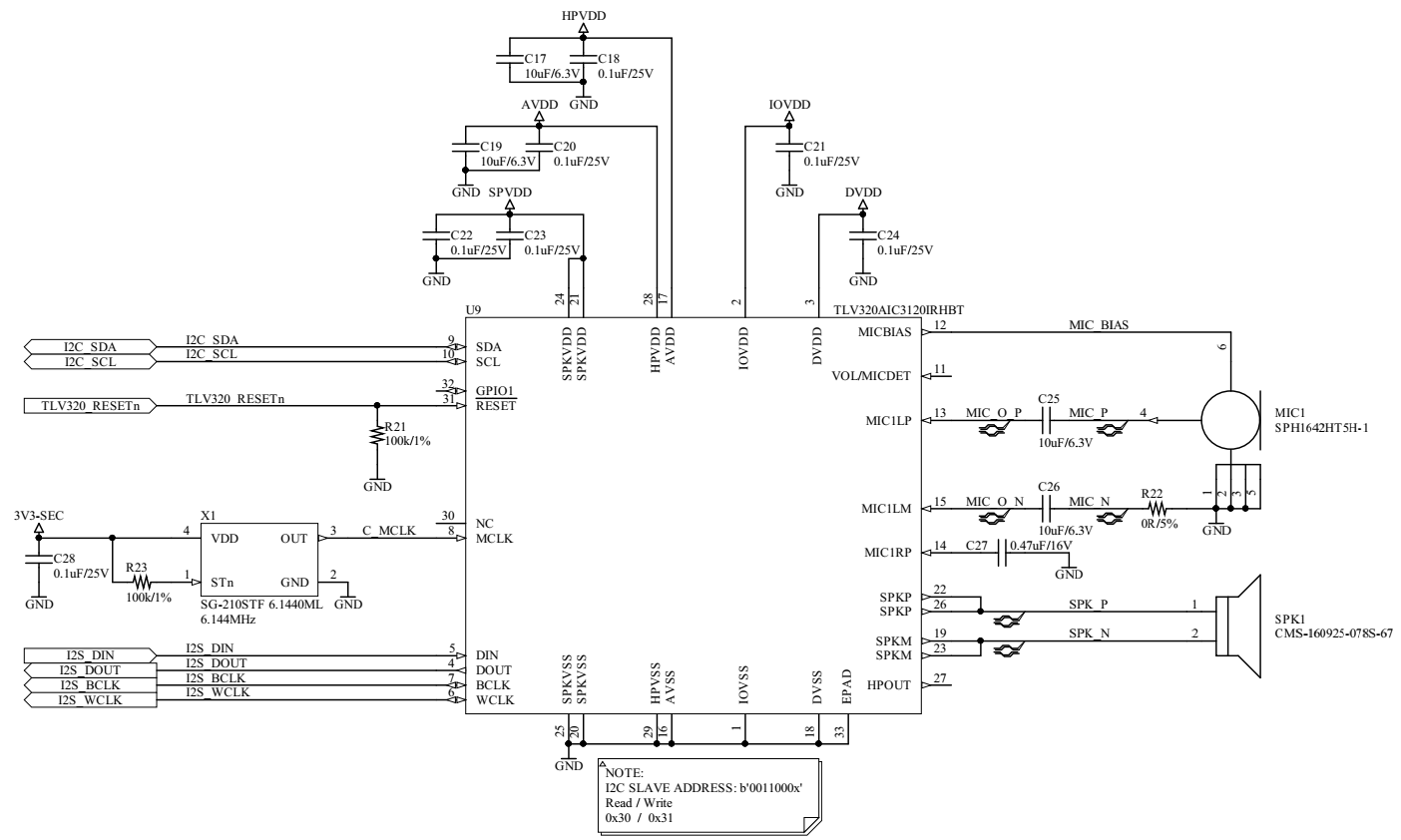 hight resolution of the i2c signals are pulled up on another schematic sheet the schematic diagram is bellow and i would like to know whether is correct