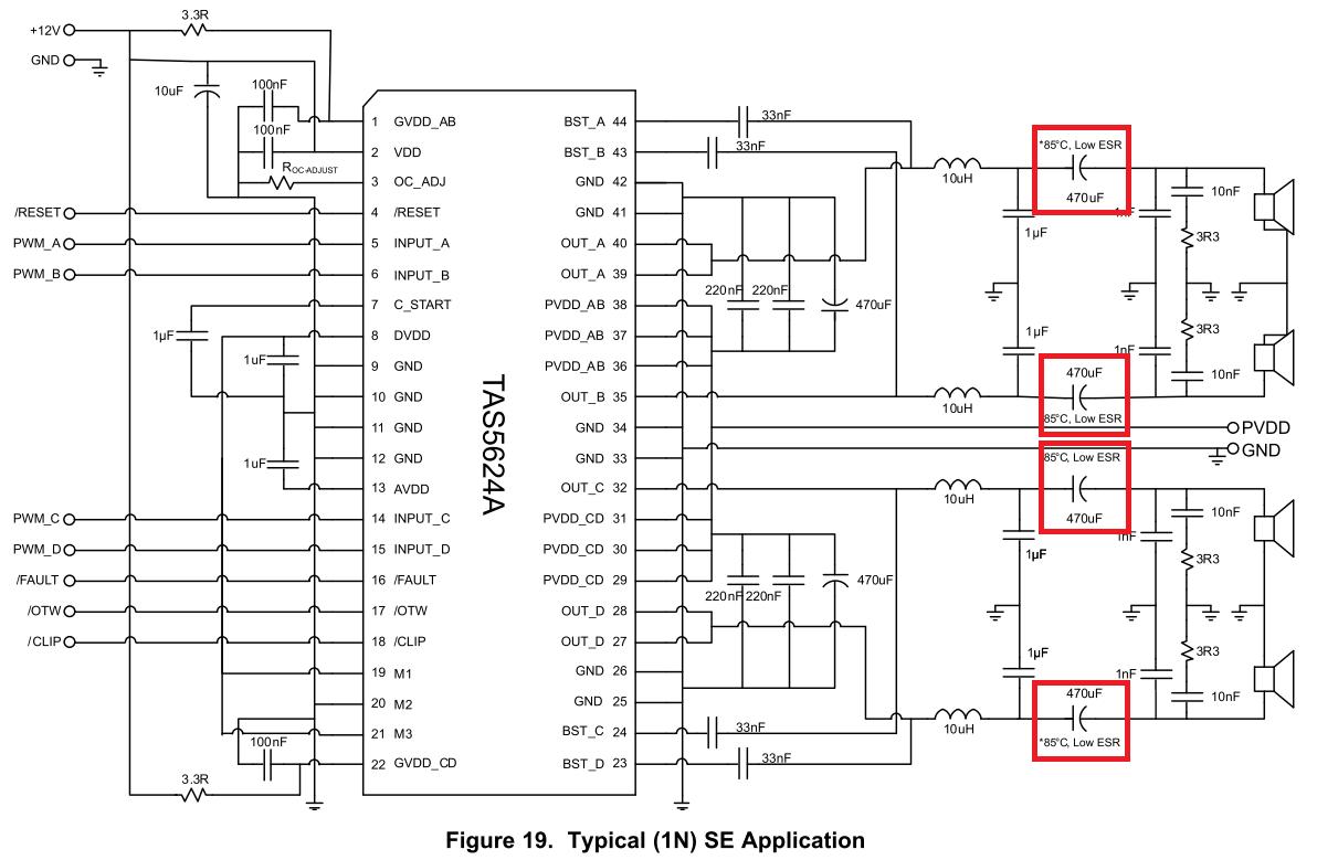☑ Audio Blocking Capacitor