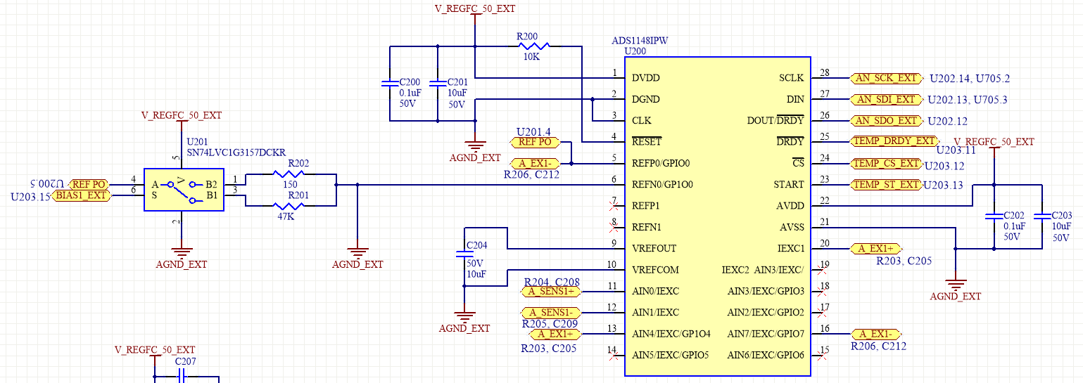 4 wire measurement circuit 2002 ford f150 xlt stereo wiring diagram resolved ads1148 design for 2 3 or rtd so with this there is no connection from iexc1 to the input reference a we must use external jumpers