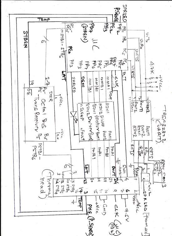 Header file for Thermal printer for TM4C123G