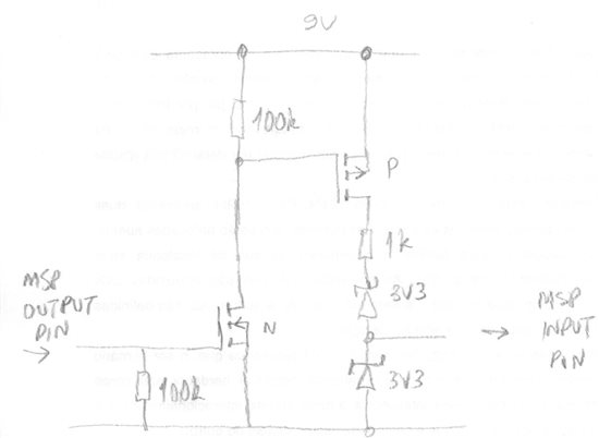 [Resolved] 9V battery check with MSP430F4351, no ADC, no