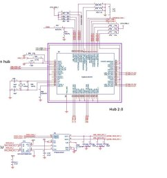 and below schematic i remove en1 en2 of tps2561 from hub only control by mcu en is always high because i want usb port can ready right after shorted  [ 1000 x 900 Pixel ]