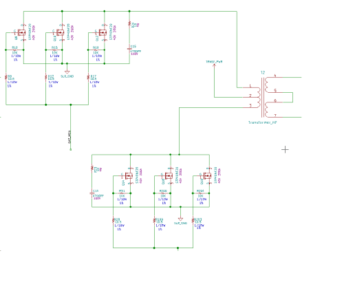 small resolution of  trace connects all mosfets on a single line but the shape of the gate signals varies from nearest mosfet to the mosfet at the far end why is that so