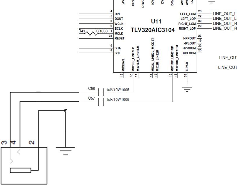 [Resolved] TLV320AIC3104 aux jack detection possible