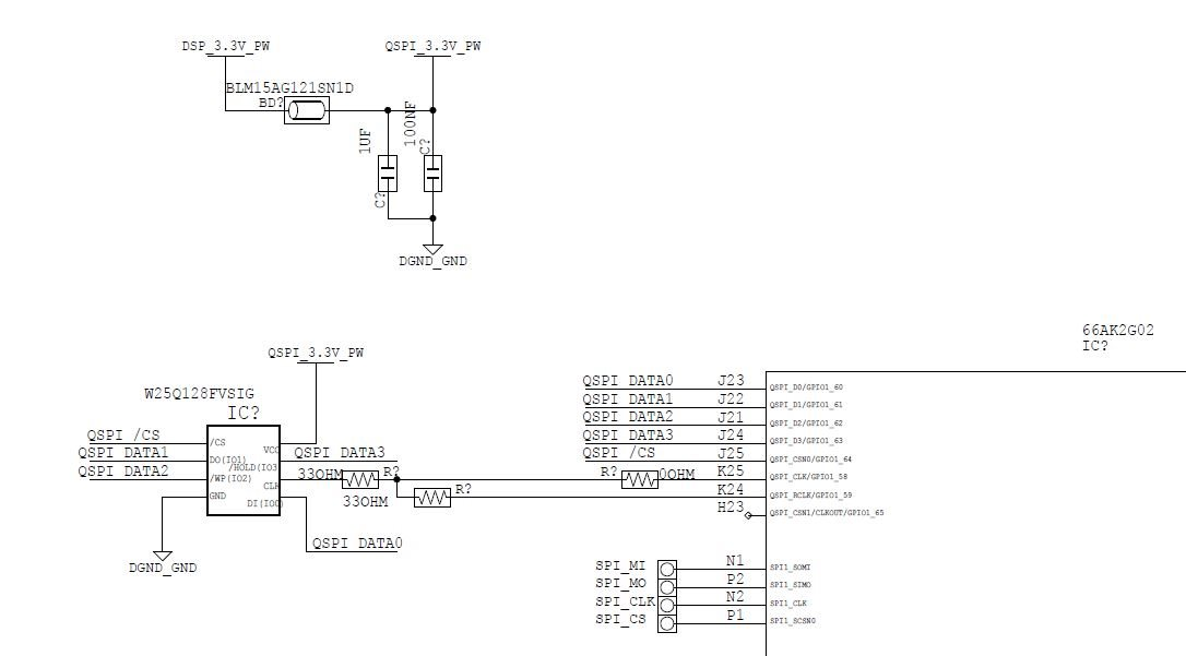 66AK2G02: resistor should be connected for SPI CLK